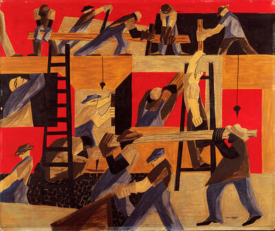 Jacob Lawrence, 'The Builders', 1947