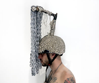 Lucien Shapiro, 'Labyrinth building hand holding helmet ', 2019