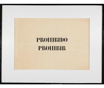 Jaime Higa Oshiro, 'Prohibido prohibir ', 1984