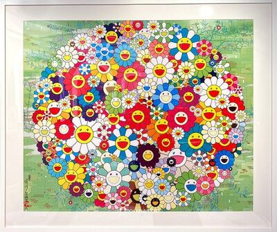 Takashi Murakami, 'Open Your Hands Wide (With Frame), 2010', 2010