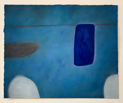 William Scott (1913-1989), 'Still Life Abstracted 1st Theme, In Blue, No XLVI/L', 1974