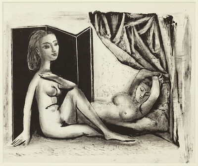Pablo Picasso, 'Les deux Femmex nues State 7b (5th January 1946)', 1946