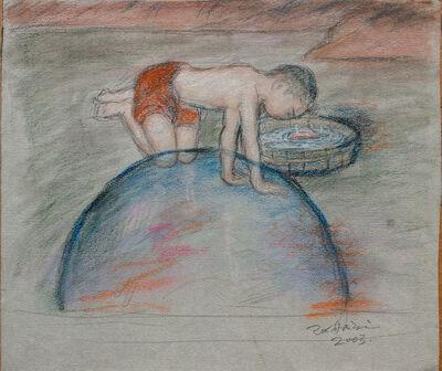 Pei Zhuangxin, 'Sketch ⼿稿《⾯對⽔盒的孩⼦》', 2004