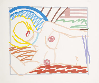 Tom Wesselmann, 'Study for blonde Monica in half slip (Thin Line)', 1986