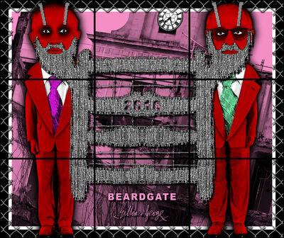Gilbert and George, 'Beardgate', 2016
