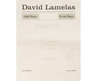 David Lamelas, 'Odd Days Even Days. 1969 Oxford 2010 Madrid', 2010