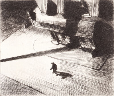 Edward Hopper, 'Night Shadow', 1921