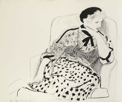 David Hockney, 'Celia in an Armchair', 1980