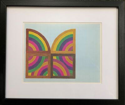 Frank Stella, 'A plate showing a study for a painting (Abra II), from the Portfolio by the Washington Museum of Modern Art', 1966