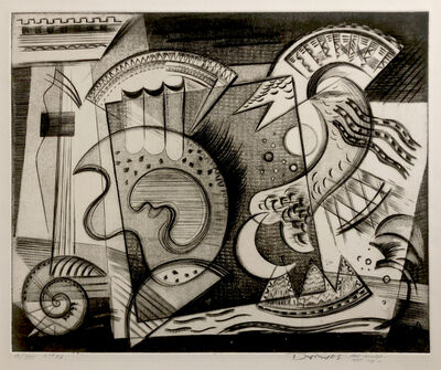 Werner Drewes, 'Dance of the Mermaid', 1945