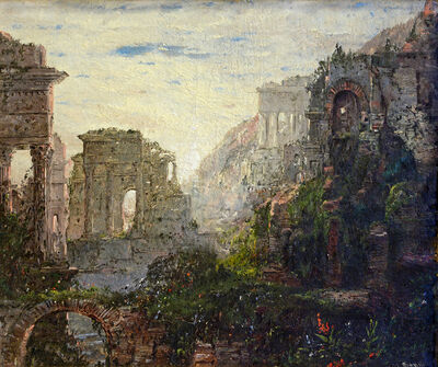 William Louis Sonntag, 'Classical Ruins', ca. 1880