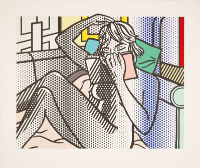 "Roy Lichtenstein, 'Nude Reading (from ""Nudes"" (C 282 - 290))', 1994"