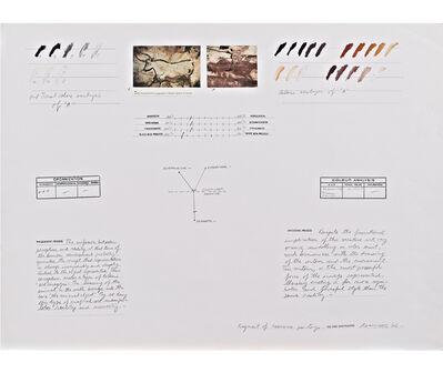 Osvaldo Romberg, 'Analysis of a Fragment of Lascaux Paintings', 1976