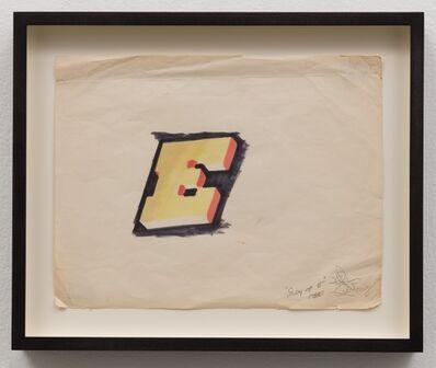 Lee Quinones, 'Study of E', 1980