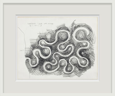 Robert Smithson, 'Wandering Canal with Mounds', 1971