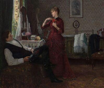 Anton Thiele, 'Tying a Rose', 1886