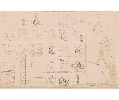 Rafael Hastings, 'A Twelve Journey Plot about Levitation', 1979/2018