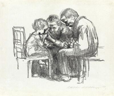 Käthe Kollwitz, 'Besuch im Kinderkrankenhaus', 1926