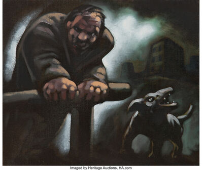 Peter Howson, 'Untitled (Man and dog)'
