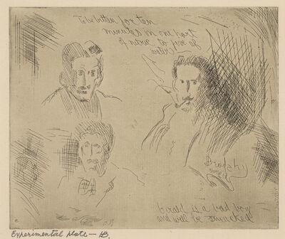 Horace Ascher Brodzky, 'Experimental plate - B: Three Portraits', ca. 1912