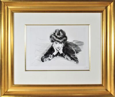 Paul César Helleu, 'Le Visage Encadre, Madame Helen Helleu (The artist's Wife)', ca. 1900
