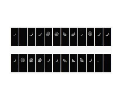 Leandro Katz, 'Lunar Phrase #2 (A BELLSHAPED CONJECTURE), ', 1979