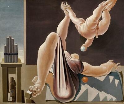 Lorser Feitelson, 'Flight over New York at Twilight'