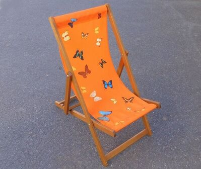Damien Hirst, 'Orange deck chair', 2008