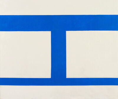 Perle Fine, 'Cool Series No. 44 (Double Square)', 1961-1963