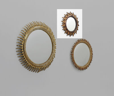 Line Vautrin, ''Soleil à pointes' mirror, model no. 2', circa 1955