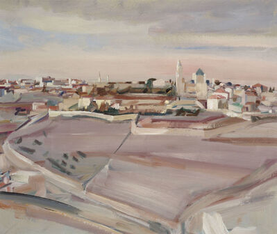 David Bomberg, 'Mount Zion and the Church of the Dormition, Jerusalem', 1923