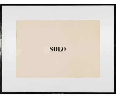 Jaime Higa Oshiro, 'Solo', 1984