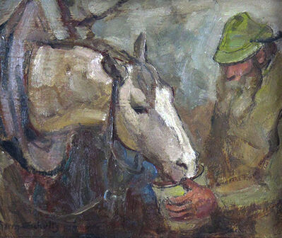 Harry Schultz, 'Feeding the Horse', ca. 1920