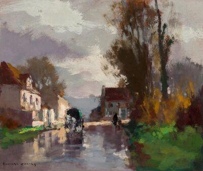 Edouard Léon Cortès, 'Attelage à la sortie du village', circa 1950