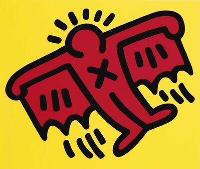 Keith Haring, 'Icons: one plate', 1990