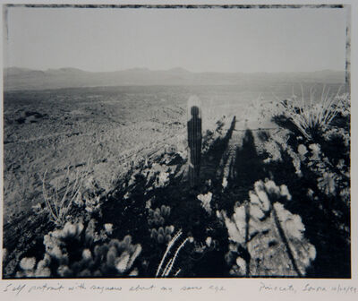 Mark Klett, 'Self Portrait with Saguaro About My Same Age', 1999