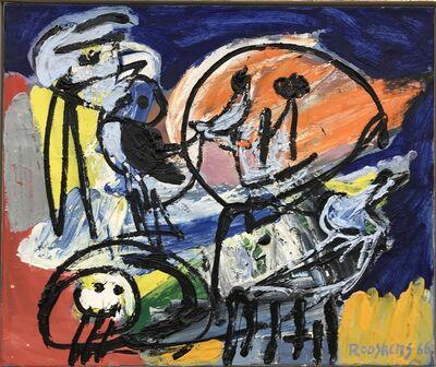 Anton Rooskens, 'Vogels met figuur', 1966