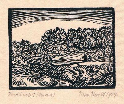 Max Unold, 'Kleine Landschaft', 1914