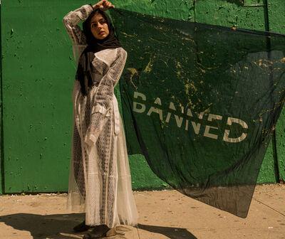 Céline Semaan Vernon, 'BANNED scarf ', 2017