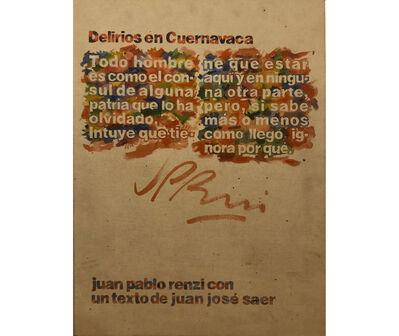 Juan Pablo Renzi, 'Tapa del libro de artista Delirios en Cuernavaca', 1982