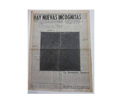 Horacio Zabala, 'Un prognóstico sombrío', 1976