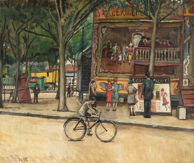 Nathan Grunsweigh, 'La fête foraine', executed in 1925