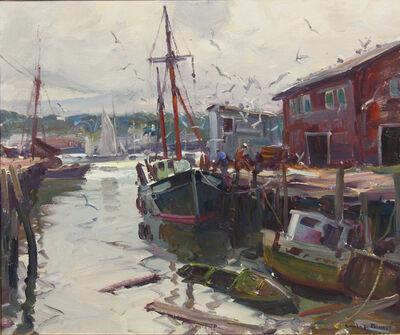 Emile Albert Gruppe, 'Feeding the Gulls', unknown