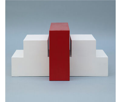 Noemi Escandell, 'Estructura variable con escalones y volumen rojo', 1966