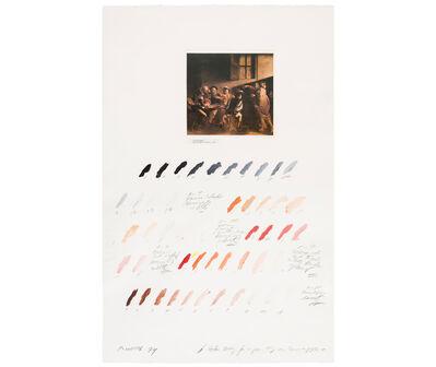"""Osvaldo Romberg, 'Estudio del color para """"La Vocación de San Mateo"""" (Caravaggio)', 1974"""