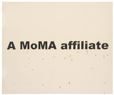 Nate Lowman, 'A MoMA Affiliate', 2006