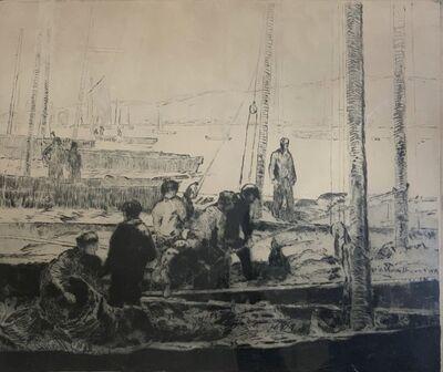 George Elmer Browne, 'Sardine Fleet at Anchor', 1935