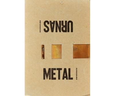 Leandro Katz, 'Urnas/Metal', 1961