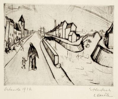 Erich Heckel, 'Zwei Kanäle (Kanal bei Ostende) (Two Canals (Canal at Ostende)', 1916