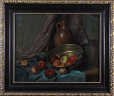 Abraham Frederik Hubeek, 'Brass, Pottery and Apples', ca. 1940
